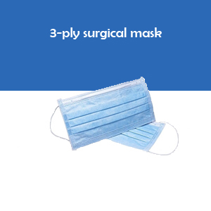 3-Ply Surgical Face Mask ( box of 50 pcs)